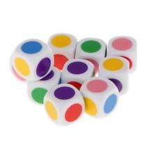 10pcs Six Side 16mm Acrylic Blank Dice Gambling Education Poker Chips Dice