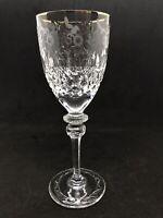Rogaska Crystal Gallia Gold pattern claret wine glass