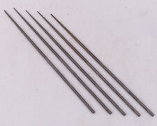 """AmericanSwiss - Swiss Made - 6"""" Needle files #2 Cut - Group of 5 Files NOS"""
