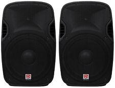 "(2) Rockville SPGN154 15"" Passive 1600W DJ PA Speakers Lightweight Cabinet 4 Ohm"