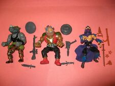 Vintage 1988 TMNT 3 Original Bad Guys  Ninja Turtles Shredder, Rocksteady, Bebop