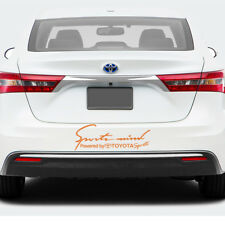 2X Multiple Color Sports Mind Power for Toyota Vinyl Decal Sticker