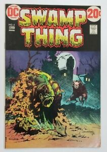 Swamp Thing #4 (May 1973 DC) VF+ 8.5 Bernie Wrightson Cover Art!