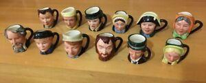 Royal Doulton Charles Dickens mini Toby Jug set of 12