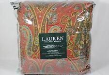 Ralph Lauren Red Floral Paisley Reversible Four Piece Queen Comforter Set NIP