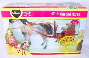 "Pedigree England SINDY GIG COACH AND HORSE 12"" Doll HUGE SET +OUTFIT MIB`70 RARE"
