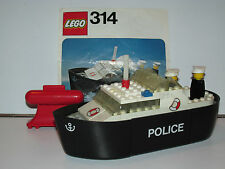 LEGO LEGOLAND No 314 POLICE LAUNCH BOAT 100% COMPLETE + INSTRUCTIONS 1970s