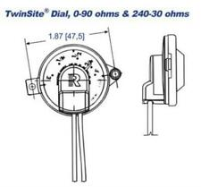 Rochester Gauges Jr. Dial Capsule 5744S02541 240-30 Ohms TwinSite