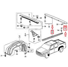 Honda Ridgeline 06-14 Set of Left & Right Bed Rail Cap Molding & Screw Cover KIT