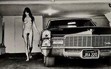 1979 Original HELMUT NEWTON Female Nude & Cadillac Large Format Photo Lithograph