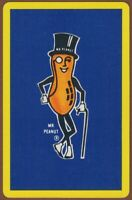 Playing Cards 1 Single Card Old Vintage MR PEANUT Advertising Art PEANUTS NUTS 1