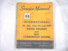 IH INTERNATIONAL 16,525,554,24,1091 DIESEL & GAS ENGINE SERVICE MANUAL OEM