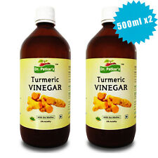 Dr Patkars Turmeric Vinegar Raw and Unfiltered with Mother 500ml X2