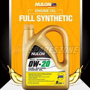 Nulon Full SYN 0W-20 Fuel Saving Engine Oil 5L for LEXUS RX450h GS200T GS300h RC