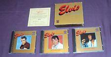 ELVIS PRESLEY - THE LEGEND - 3 CD BOX SET - GOLD BOX - CERTIFICATE- 1983- IMPORT