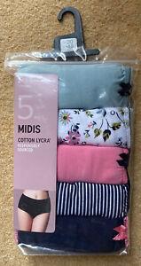 Femmes Sous-Vêtement Culotte M/&S Complet Slip Haut Jambe Bas Taille Neuf