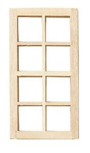 Dolls House Standard 8 Pane Window Builders DIY Spare Parts 1:12 Scale Wooden