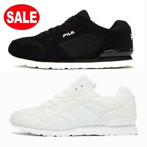 Mens FILA Cress Trainers Shoes (Sizes 6 to 12) BLACK or WHITE **Was £60