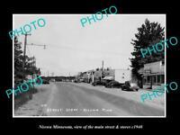 OLD LARGE HISTORIC PHOTO OF NISSWA MINNESOTA, THE MAIN STREET & STORES c1940