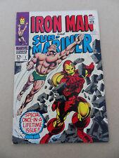 Iron Man & Sub - Mariner 1 . One Shot . G.Colan .  HOT !! . Marvel 1968 . FN +