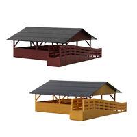 1pc HO Scale Livestock Horses Stable 1:87 Cattle Shed Buidling for Farm Animals