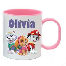 Personalised Paw Patrol Plastic Cup Mug Child's Birthday Party  Favour