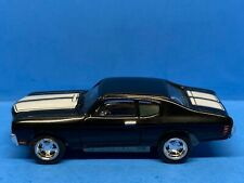Johnny Lightning Thunderjet 500 Pull Back Ho Scale Chevy Chevelle - Black *LOOSE