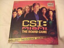 CSI Miami The Board Game Year 2005. 8 Crimes to Solve