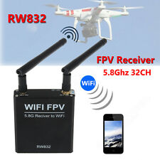 32CH 5.8Ghz Audio/Video AV FPV RW832 Wireless Wifi Receiver Fr IOS Android Phone
