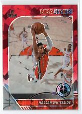 New listing 19-20 Premium Hoops Red Cracked Ice Prizm Hassan Whiteside #196 Portland Trail B