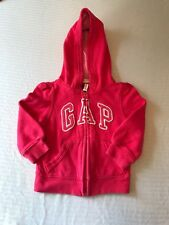 Gap girls pink sweatshirt 12-18 months Hooded Zip up