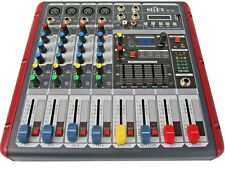 DJ PA 4 Kanal Mixer Mischpult Verstärker Party Mobil Stereo USB MP3 Player Sioux