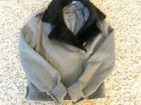 Aeropostale Girls Jacket Size S/P Gray with Black New with Tags