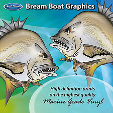Bream Graphics - set of 220mm Boat Graphics