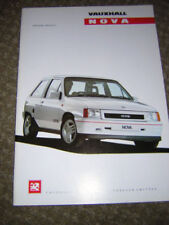 Nova 1990 Vauxhall/ Opel Car Sales Brochures