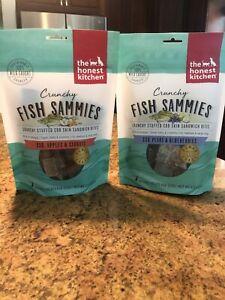 BUNDLE- The Honest Kitchen Crunch Fish Sammies TWO FLAVORS