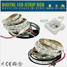 ✅ 1m 5m RGB WS2812B LED Digital Streifen 5V IP30 - SMD5050 / WS2811 IC - Strip e
