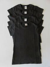 4er Pack Fruit of the Loom T-Shirt - Lady-Fit Damen - Größe XS - schwarz - NEU