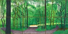 David Hockney Woldgate Woods Canvas 20x38 Inches Wall Art