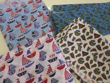Telas y tejidos color principal azul Polialgodón para costura y mercería