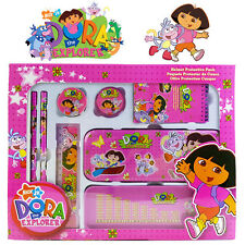 8-1 DORA THE EXPLORER ENGINE TOY CHILD SCHOOL STATIONERY SET METAL PENCIL CASE