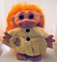 "Vintage Dam Troll Doll 1961 Bank 7"" Denmark Wearing Raincoat"