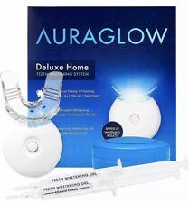 AuraGlow Deluxe Home Teeth Whitening Kit, LED Light, Enamel Safe *see details*