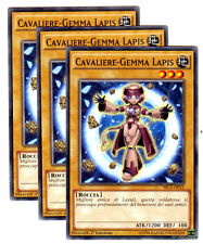 Set 3X CAVALIERE GEMMA LAPIS SECE-IT012 Comune in Italiano YUGIOH