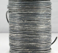 1 m Rundlederband vintage grau Ø 3 mm Schmuck herstellen