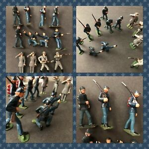 MARX TOYS * WARRIORS OF THE WORLD * 1960s UNION & CONFEDERATE  * CIVIL WAR LOT