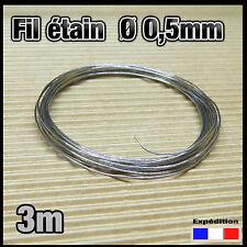 050/3# 3m fil Ø 0,5mm de soudure pour électronique  60% étain 40% plomb