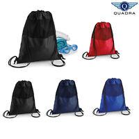 Quadra Unisex Mesh Gymsac Bag (QD460) - Sports Gym Swimming Backpack