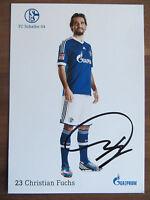 Handsignierte AK Autogrammkarte *CHRISTIAN FUCHS* FC Schalke 04 12/13 2012/2013