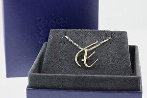 "Dower & Hall Silver ""E"" Pendant - RRP £98"